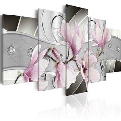 Cuadro Magnolias de acero