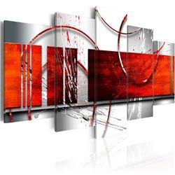 cuadro nfasis tema rojo
