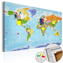Tablero de corcho - World Map: Countries Flags [Cork Map]