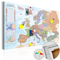 Tablero de corcho - World Maps: Europe [Cork Map]