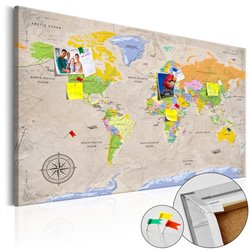 Tablero de corcho - Maps: Vintage Style [Cork Map]