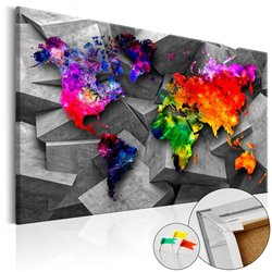Tablero de corcho Cubic World