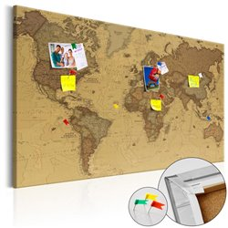 Tablero de corcho Ancient Mapa de Mundo