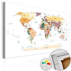 Tablero de corcho Mapa de Mundo