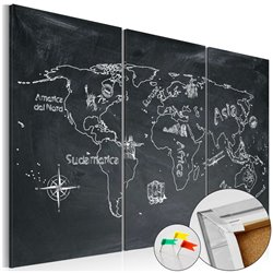 Tablero de corcho - Geography lesson [Cork Map]