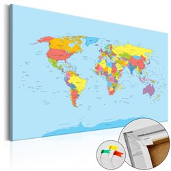 Tablero de corcho - Rainbow Geography [Cork Map]