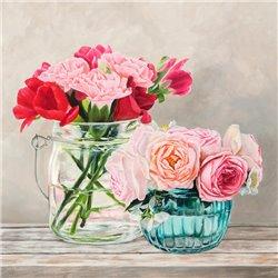 Fleurs et Vases Blanc I
