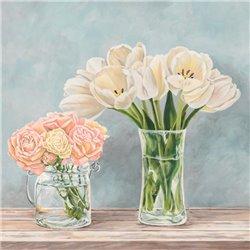 Fleurs et Vases Aquamarine I