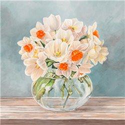 Fleurs et Vases Aquamarine II