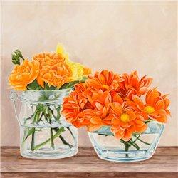 Fleurs et Vases Jaune II