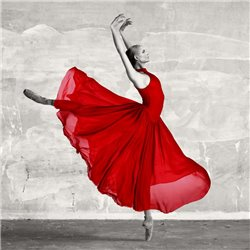 Ballerina in Red (detail)