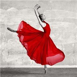 Ballerina in Red (detail)