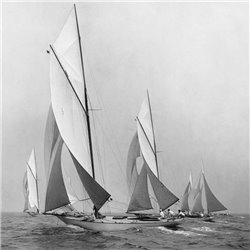 Sailboats Sailing Downwind, 1920 (detail)