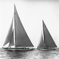 Sailboats in the America's Cup, 1934 (detail)