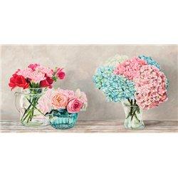 Fleurs et Vases Blanc