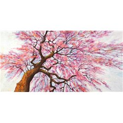Sotto l'albero in fiore