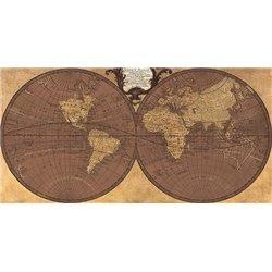 Gilded World Hemispheres II