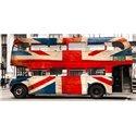 Union jack double-decker bus, London