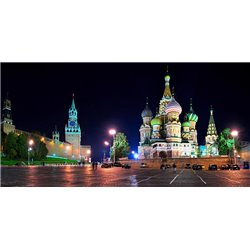 Red Square at night, Moscow