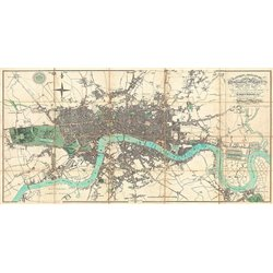 Map of London, 1806