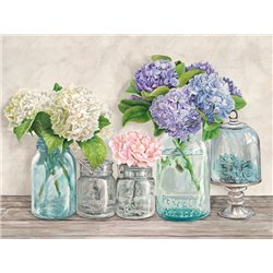 Flowers in Mason Jars (detail)