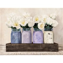 Tulips in Mason Jars