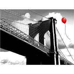 Balloon over Brooklyn Bridge