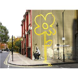 Pollard Street, London (graffiti attributed to Banksy)