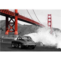 Under the Golden Gate Bridge, San Francisco (BW)