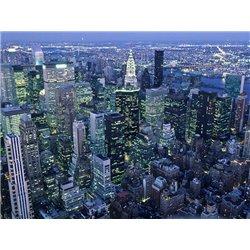 Manhattan skyline at dusk, NYC