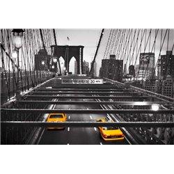 Taxi on Brooklyn Bridge, NYC