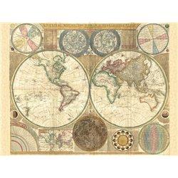 Double hemisphere map of the world, 1794