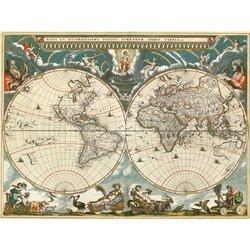 Nova et accuratissima totius terrarum orbis tabula, 1664
