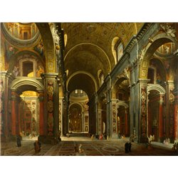 The interior of St Peter's, Rome
