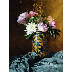 Peonies in a Vase (detail)