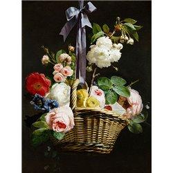 A Romantic Basket of Flowers
