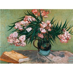 Vase with Oleanders and Books