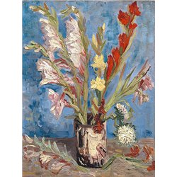 Vase with Gladioli and China Asters