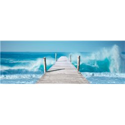 Ocean Waves on a Jetty