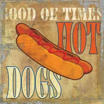 Cuadros de cocina vintage hot dog - Cuadros cocina vintage ...